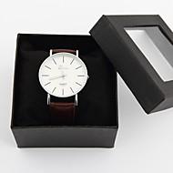 presente do dia vestido relógio dos homens personalizado do pai relógio com design simples