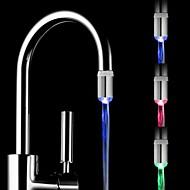 RC-F05 Mini Stylish Water Stream Temperature Sensor Luminous LED Light Faucet Light (Plastic, Chrome Finish)