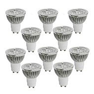 10 pcs GU10 4 W 4 High Power LED 360-400 LM Warm White / Cool White / Natural White Dimmable Spot Lights AC 110-130 V