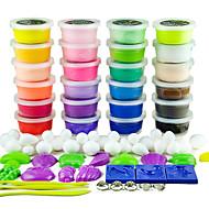 dodolu 24 farger Plastilina 3d fargerik leire med giftfri moduser