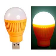 ampoule en forme de boule super brillantes alimenté par USB Mini LED lumière de nuit (orange)