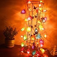 jiawen® 4m 20leds RGB LED hjerteformede streng lys jul string lys til dekoration (ac 110-220V)