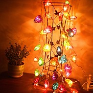 JIAWEN® 4M 20LEDs RGB LED Heart-Shaped  String Light Christmas String Light for Decoration (AC 110-220V)