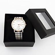 Zegarek damski spersonalizowanej mody wzór kratki zespół