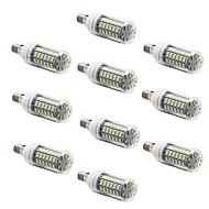 10 pcs E14 7 W 56 SMD 5730 600 LM Warm White/Cool White Corn Bulbs AC 220-240 V