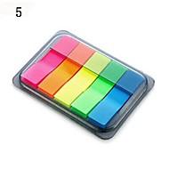 selvklæbende noter bærbar brevpapir boks (tilfældig farve)