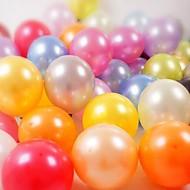 10-tommers tykke runde perle ballonger latex ballonger (100stk)