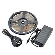 vanntett 24W 300x3528 SMD LED 3500K 1700lm varmt hvitt lys fleksibel stripe m /