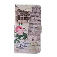 Na Samsung Galaxy Note Etui na karty / Portfel / Z podpórką / Flip / Wzór Kılıf Futerał Kılıf Widok miasta Skóra PU Samsung Note 4