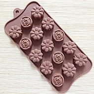 15 Hole Rose Shape Cake Mold