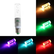 Zweihnde E26/E27 3 W 1 Dip LED 200-250 LM RGB Dimmable/Remote-Controlled/Decorative Tube Lights AC 85-265 V