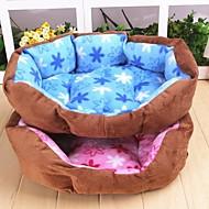 patrón de flores cálido nido de lujo para perros (color clasificado)