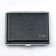 personalizzato in pelle astina in rame puro sigaretta nero caso p2003-001 può trasportare 18 (di sigarette)