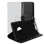 のために Nokiakケース ウォレット / カードホルダー / スタンド付き ケース フルボディー ケース ソリッドカラー ハード PUレザー Nokia Nokia Lumia 830