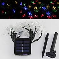 SOR-20-27 Solar Energy Star Light String Festival Courtyard Garden Decoration String Light 20 LED 4.8M