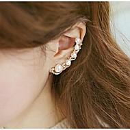 Ear Cuffs Perłowy Kryształ górski Stop Silver Golden Biżuteria Na Ślub Impreza Codzienny Casual Sport