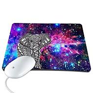 Elonbo Bohemian Bright Stars and Elephant PU Leather Anti-slip Mousepad Computer Mouse Pad
