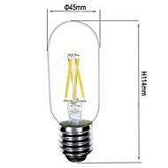 ON Lâmpada de Filamento LED Decorativa E26/E27 3.5 W 380 LM 2800-3200 K Branco Quente 4 COB AC 220-240 V T
