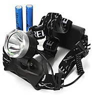 Lights Headlamps / Bike Lights LED 2000/1600/1800/350 Lumens 3 Mode Cree XM-L T6 18650Waterproof / Rechargeable / Impact Resistant /