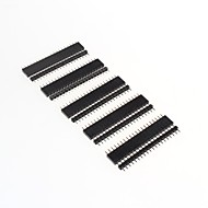 GDW AZ13 20-Pin 2.54mm Pitch Pin Headers - Black (10 PCS)