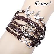 eruner® naisten monikerroksinen metalliseos rakastaa lintuja elämän puu ja ääretön käsintehty rannekoru