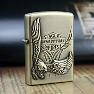 grava personalizado óleo padrão águia de ouro de metal mais leve