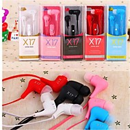 Headphone 3.5mm In Ear with Microphone Volume Control For iPhone5/6 and Others (Assorted Colors)