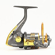 Fishing Reel Spinning Reels RATIO: 5.1:1 for size 500 and 1000;   5.0:1 for size 2000 and 3000;  4.7:1 for size 4000,5000 and 6000 6Ball
