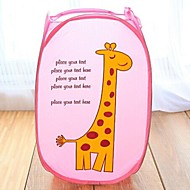 Fold Cartoon Images Laundry Ppouch Storage Bags(Random Color)