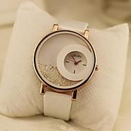 kvinnors cirkulär rullande pärlor kvarts armbandsur (blandade färger)