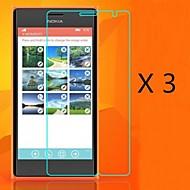 (3 piezas) Protector de pantalla de alta definición para Nokia Lumia 730