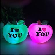 apple värikäs yövalo Sweet Love valo johti nigth valo (random väri)