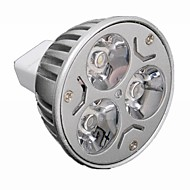 Focos Regulable MR16 GU5.3 3 W 3 LED de Alta Potencia 330 LM Warm: 2800-3200K ; Cool: 6000-6500K K Blanco Cálido/Blanco Fresco AC 24/DC 24