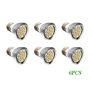 6 pcs E26/E27 4W 16 SMD 5730 280 LM Warm White / Cool White LED Spotlight AC 220-240 / AC 110-130 V