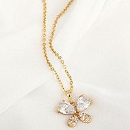 Women's Zircon Butterfly Pendant Necklaces