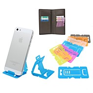 Creative Portable Ultra-thin Folding Stand for iPhone 6 and Others (Assorted Colors)
