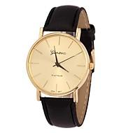 orologio d'oro caso pu quarzo polso banda analogica delle donne (colori assortiti)