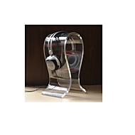 u-formet akryl hodetelefon / headset hengeren holder stand - gjennomskinnelig hvit