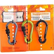 Mousqueton à vis 7mm déverrouillage suspendus trousseau rapide (couleur aléatoire)