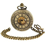 Unisex Roman Style Round Dial Alloy Waistchain Mechanical Pocket Watch Green Patina  (1Pc) Cool Watches Unique Watches