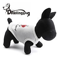 droolingdog®น่ารักฉันรักรูปแบบของฉัน Momey เสื้อยืดผ้าฝ้าย 100% สำหรับสัตว์เลี้ยงสุนัข (คละสีคละไซส์)