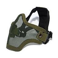 acier grève de paintball de l'équipement tactique moitié masque pour airsoft (deux version de ceinture)