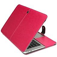 macbook air 13.3 inç için düz renk yeni deri katlanabilir kasa