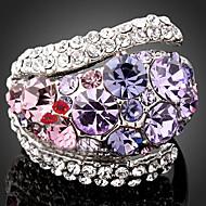 ステートメントリング 合金 キュービックジルコニア 模造ダイヤモンド ファッション スクリーンカラー ジュエリー パーティー 1個
