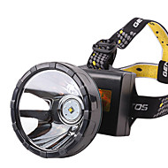 Headlamps 2 Mode Lumens Waterproof / Rechargeable 18650 Camping/Hiking/Caving / Cycling / Hunting / Fishing / Climbing - Others , Black
