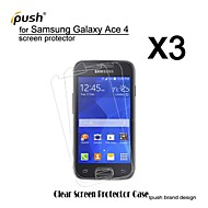 hoge transparantie hd lcd screen protector voor de Samsung Galaxy Ace 4 g313h (3 stuks)