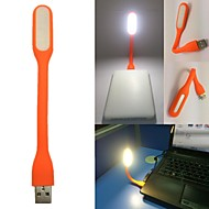 USB portable led orange mini-lampe flexible lumière