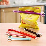 schaar vorm afdichting clip, plastic 17,5 × 1,5 × 1,3 cm (6,9 × 0,6 × 0,6 inch) willekeurige kleur