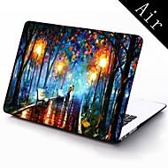 Gli amanti della pittura a olio della custodia in plastica di disegno di pioggia per tutto il corpo di protezione di 11-inch / 13-inch nuovo Mac Book