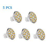 5 pcs GU4 3 W 24 SMD 2835 231 LM Warm White / Cool White LED Filament Lamps AC 12 V